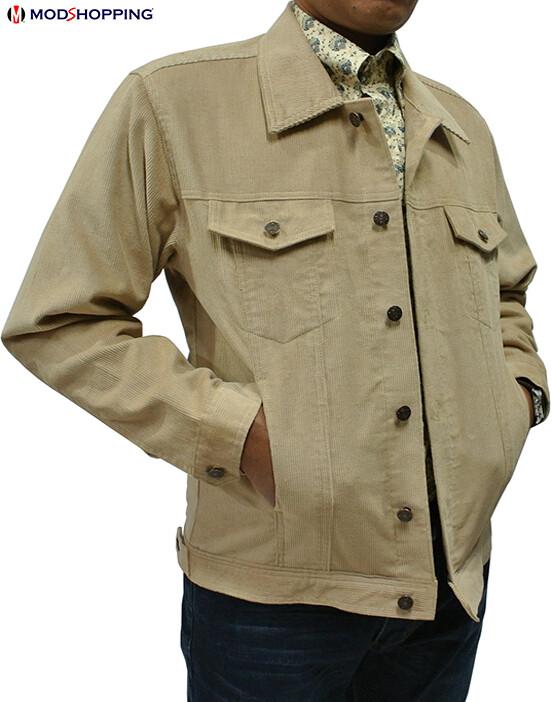 Vintage Beige Corduroy Harrington Jacket