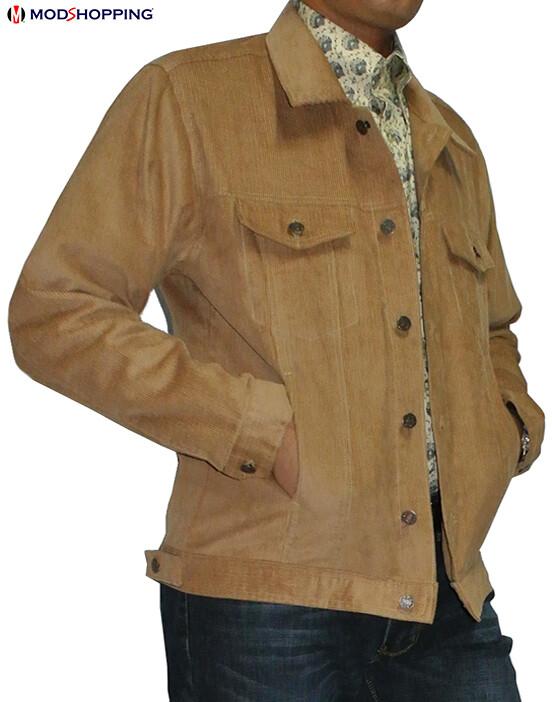 Vintage Camel Corduroy Harrington Jacket
