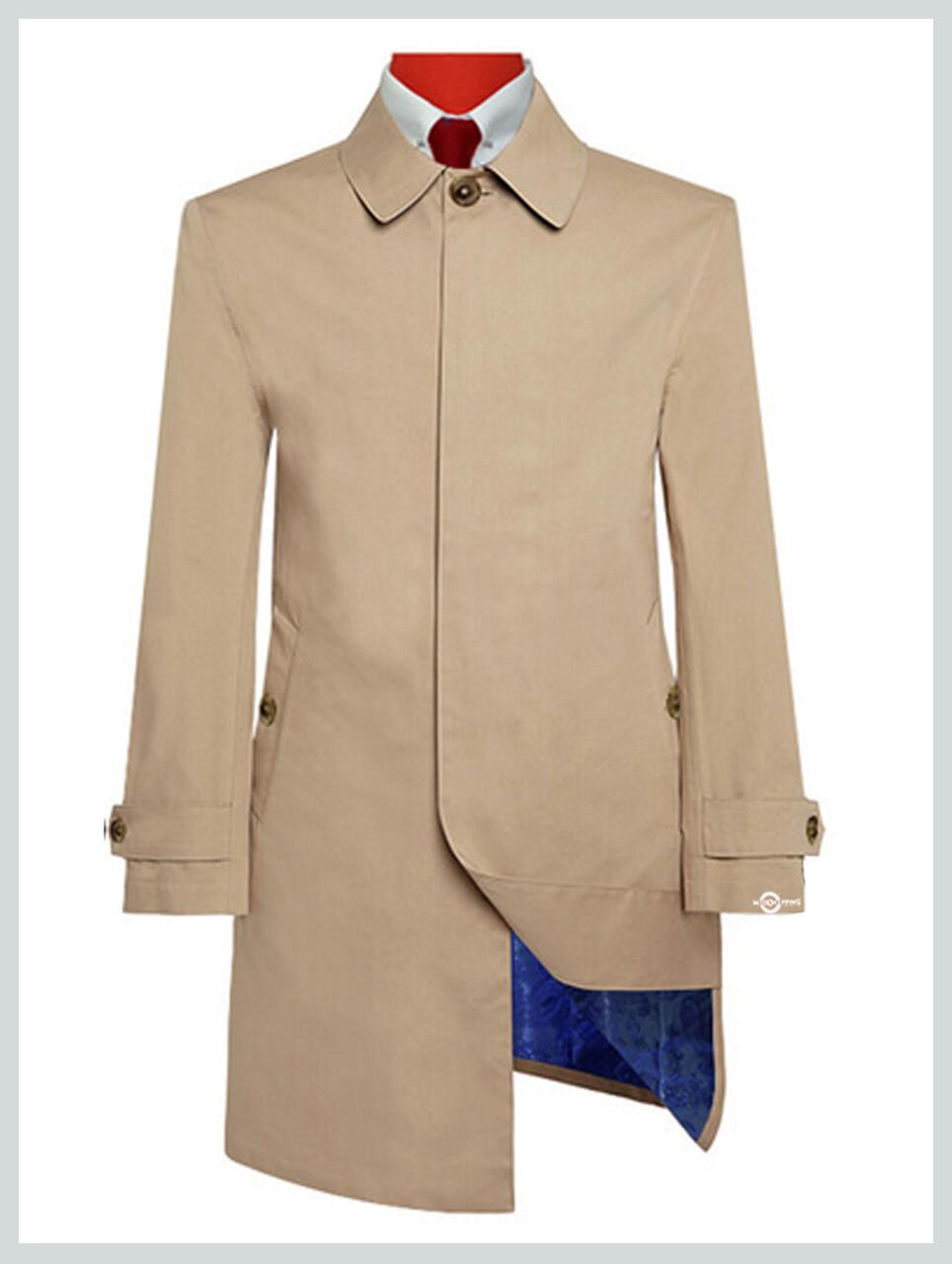 Mac Coat Mens  Original Vintage Style 100% Cotton Khaki Mac Coat