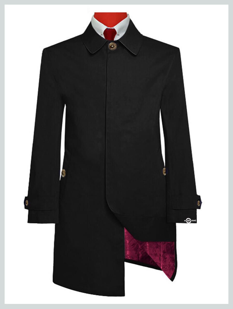 Black Mac Coat  60s Mod Clothing Original Black Mac Coat