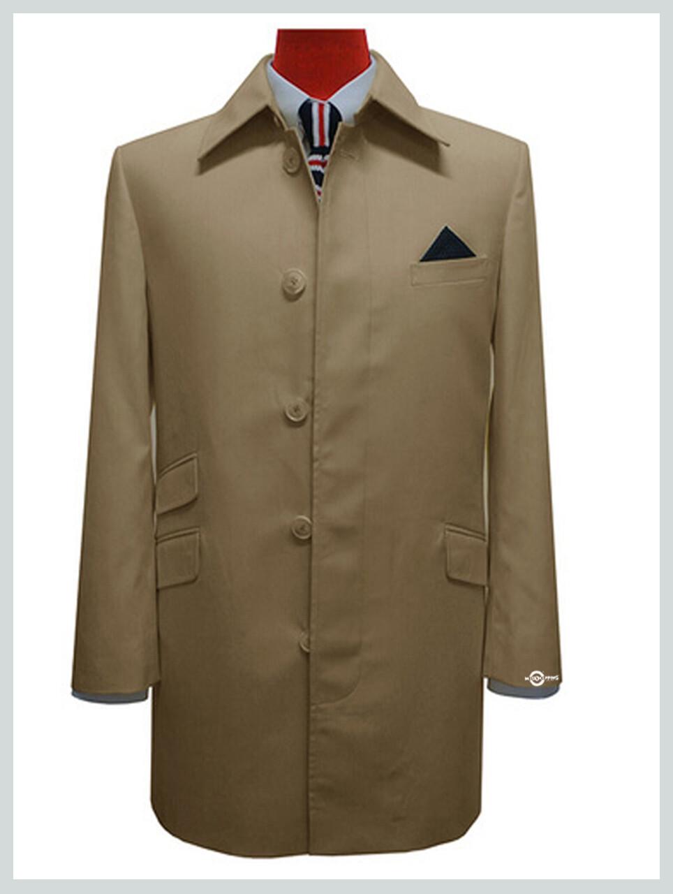 Mens Mac Coat| Original Khaki Mod Style Mens Mac Coat