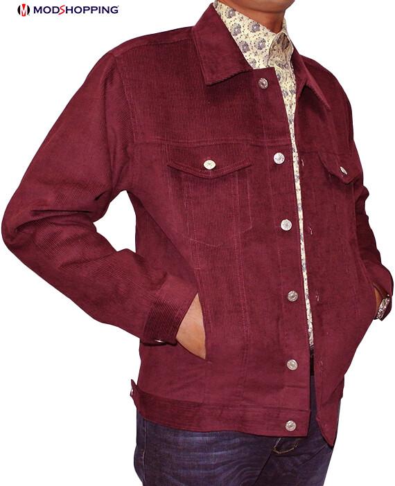 Vintage Burgundy Corduroy Hreeington Jacket