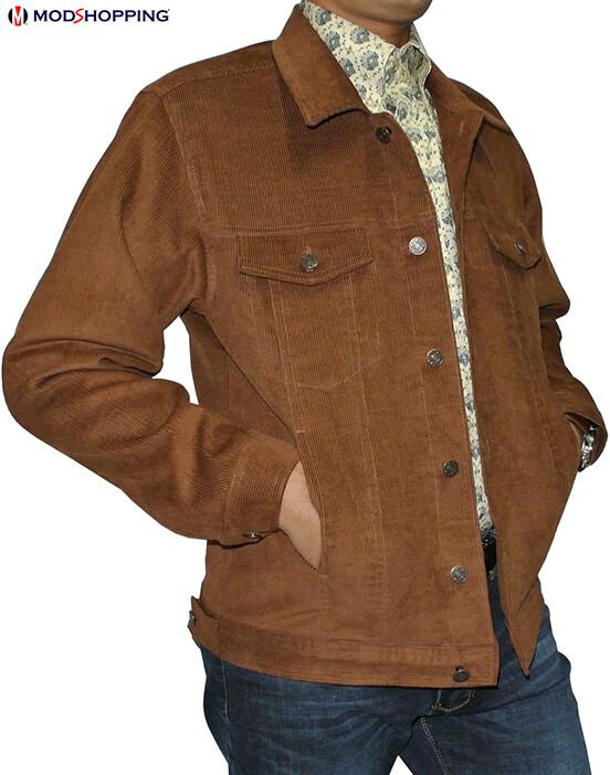 Vintage Brown Corduroy Harrington Jacket