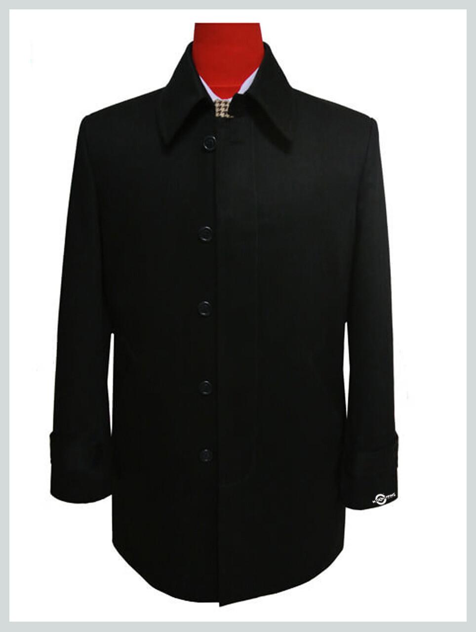 Mac Coat Mens| Mod Fashion Vintage Original Black Mac Coat