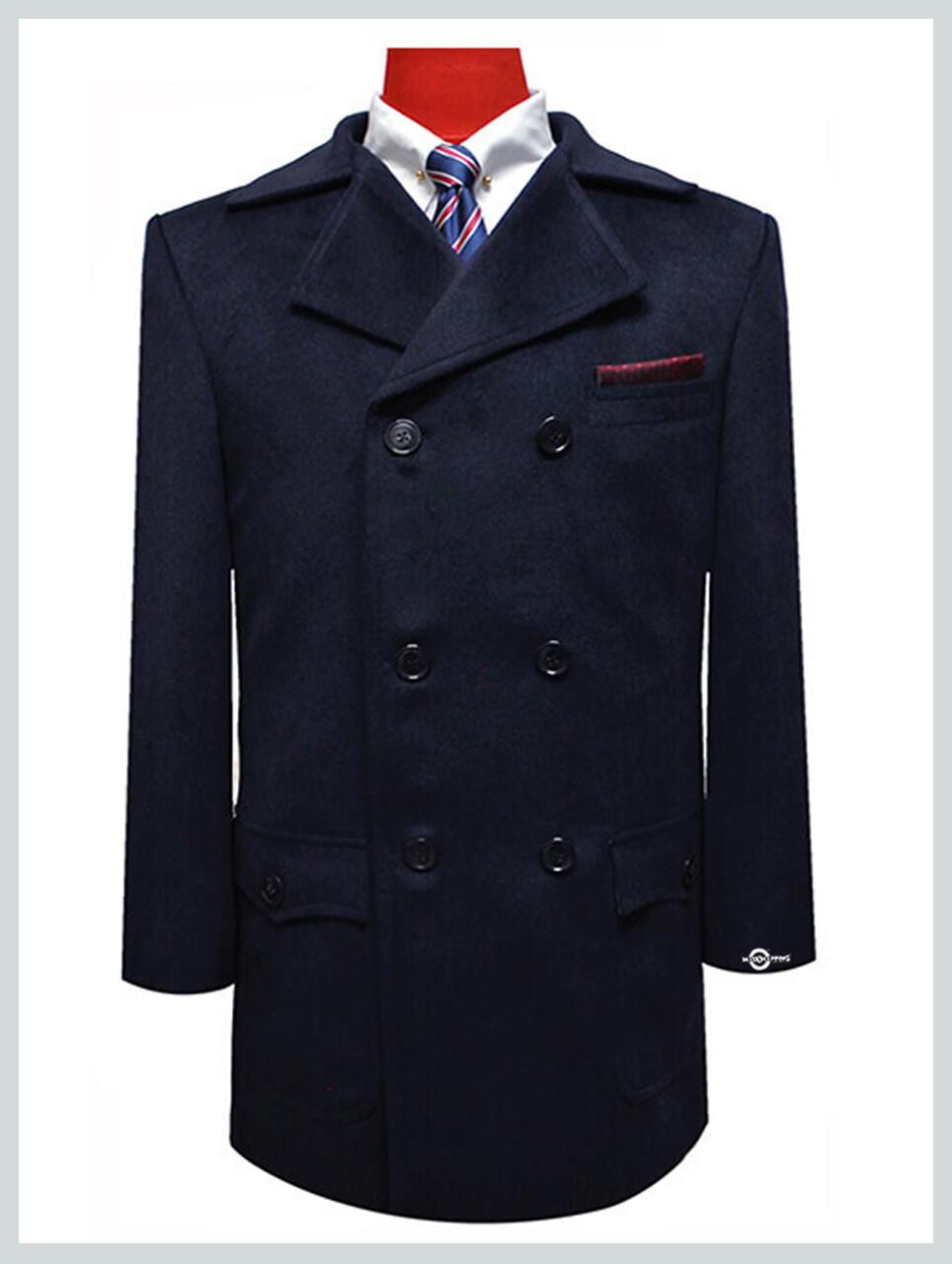 pea coat| retro vintage mod style wool classic navy blue peacoat