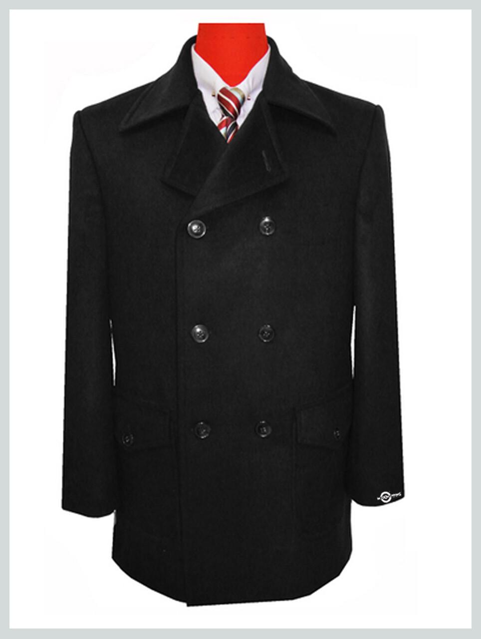 black pea coat| 60s mod reto mens black pea coat for winter