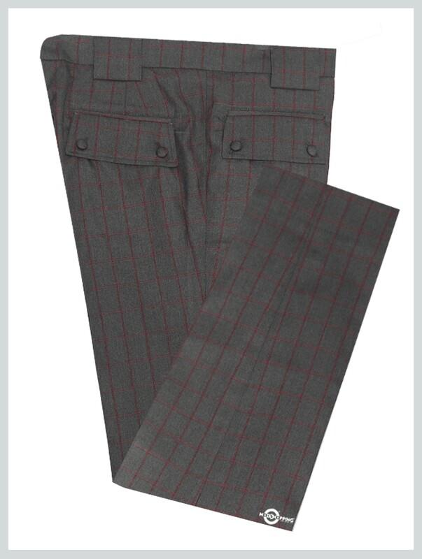 Grey Window Check Trouser For Men's