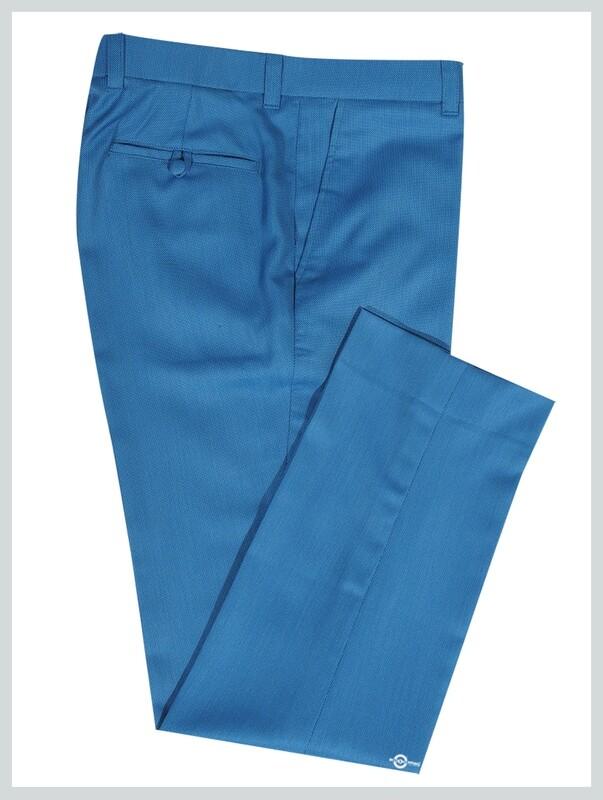 Deep Sky Blue 1960s Fashion Mod Clothing Mod Trouser