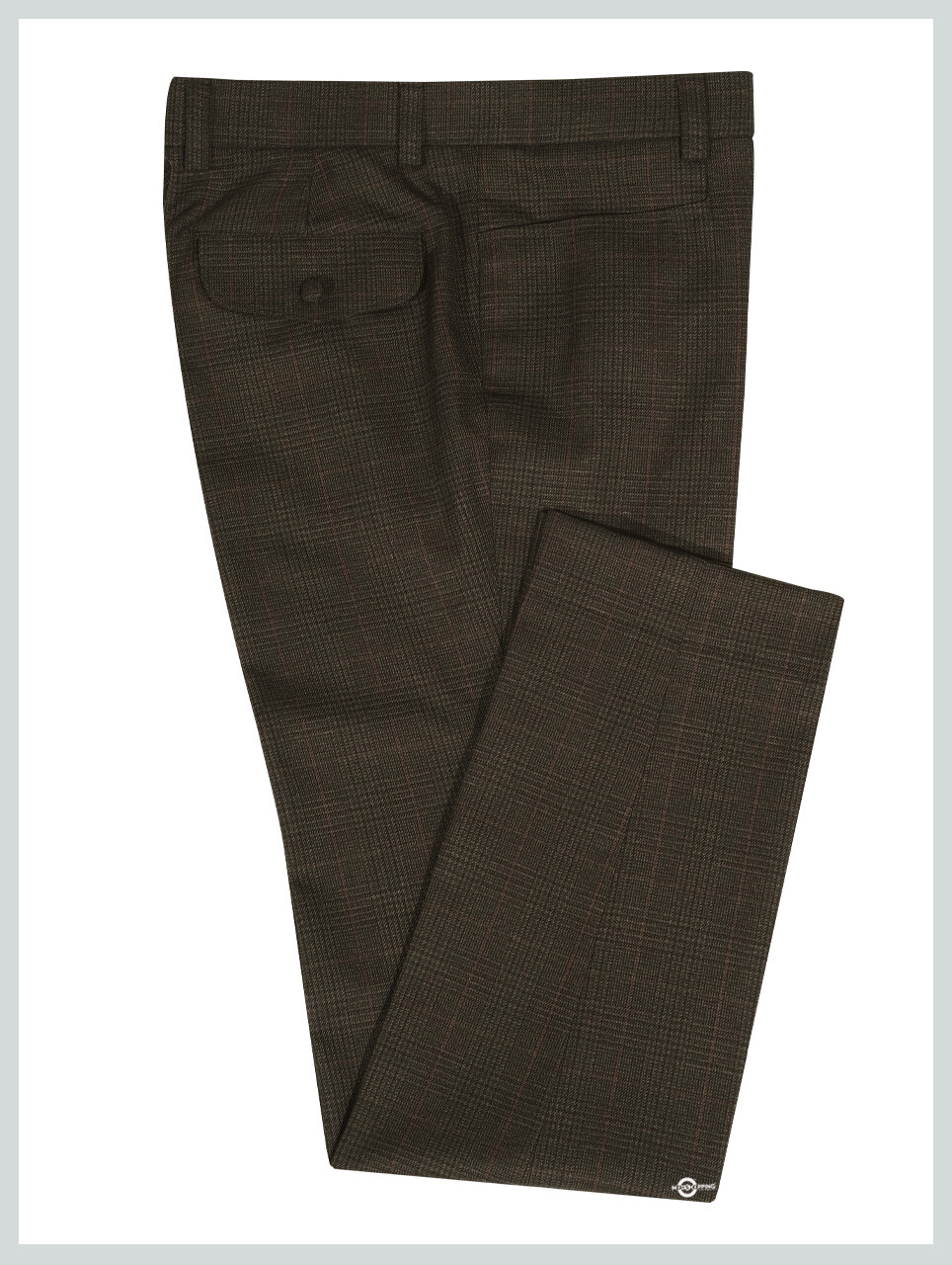 Dark Brown Tweed Pow Check Trouser