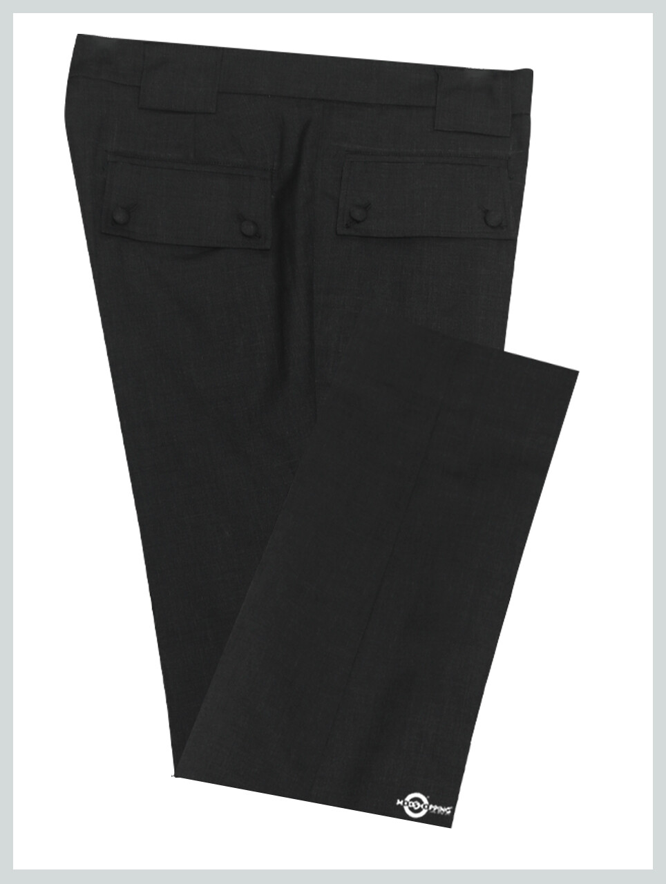 60's Style Trouser | Charcoal Grey Trouser