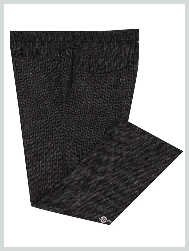 Mod Tweed Trouser | Charcoal  For Man