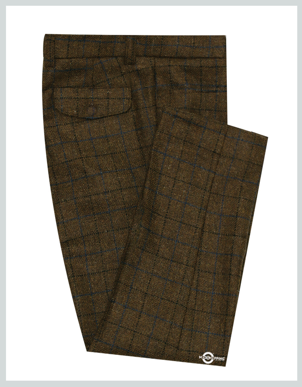 Modshopping | Dark Brown Window Check Trouser For Man