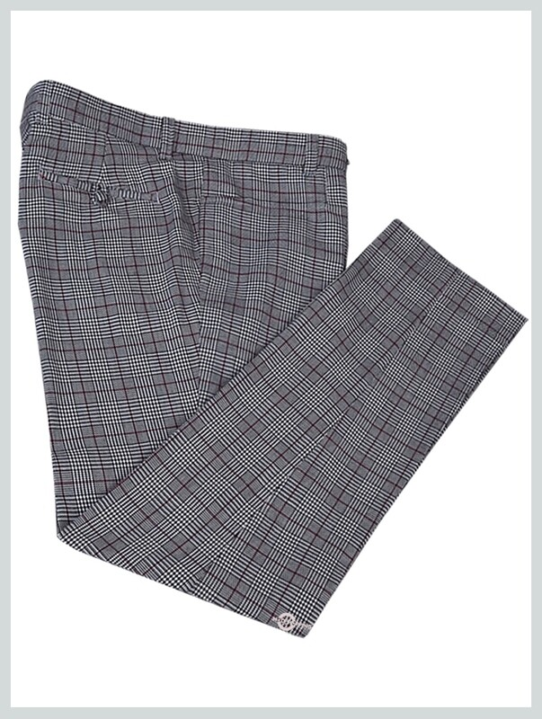Grey Prince Of Wales Check Trouser