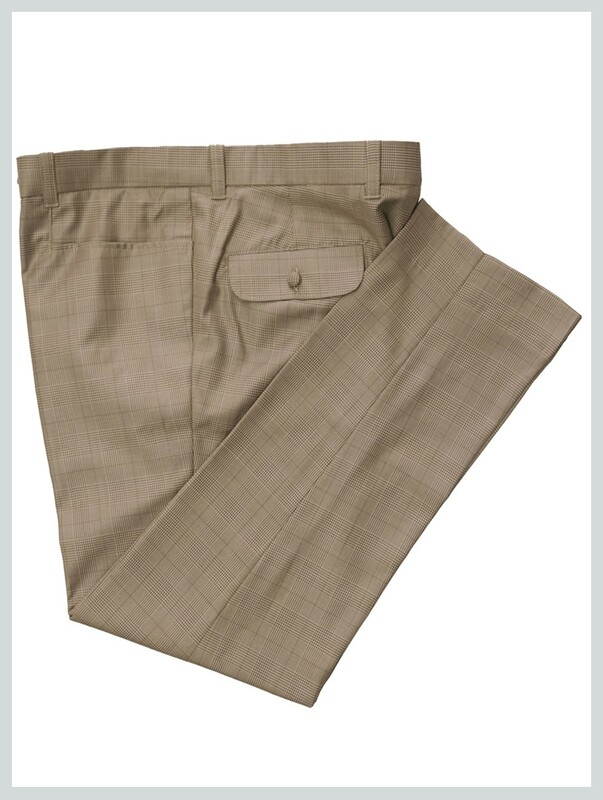 Classic Light Brown Prince Of Wales Check Trouser