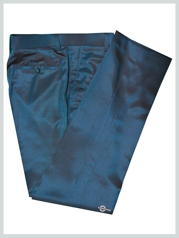 Two Tone  Trouser Orange And Light Sea Green Two Tone Mod Style 60s Tailored Trouser For Men