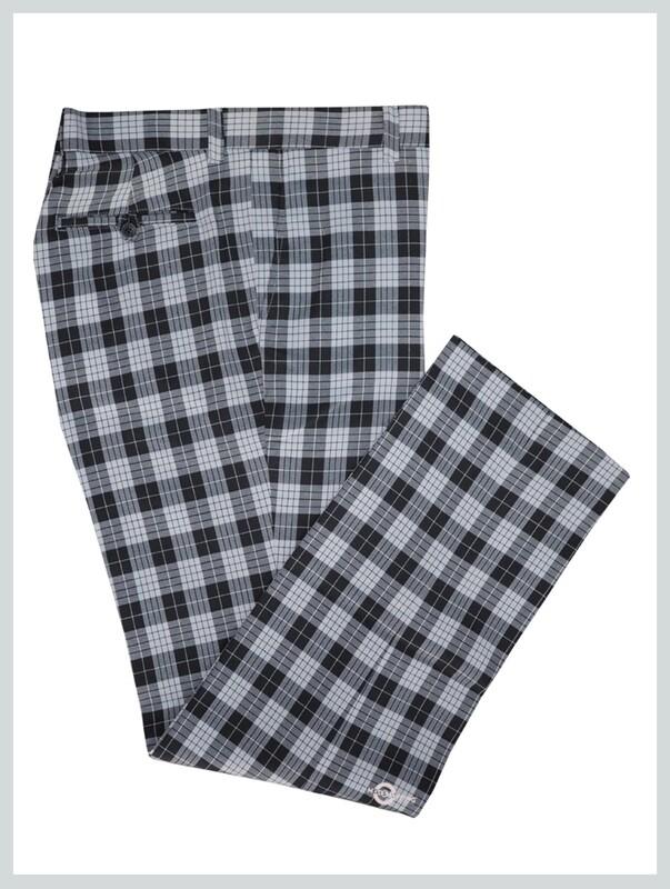 Check Trouser| Madras Check Black & White Trouser Mens