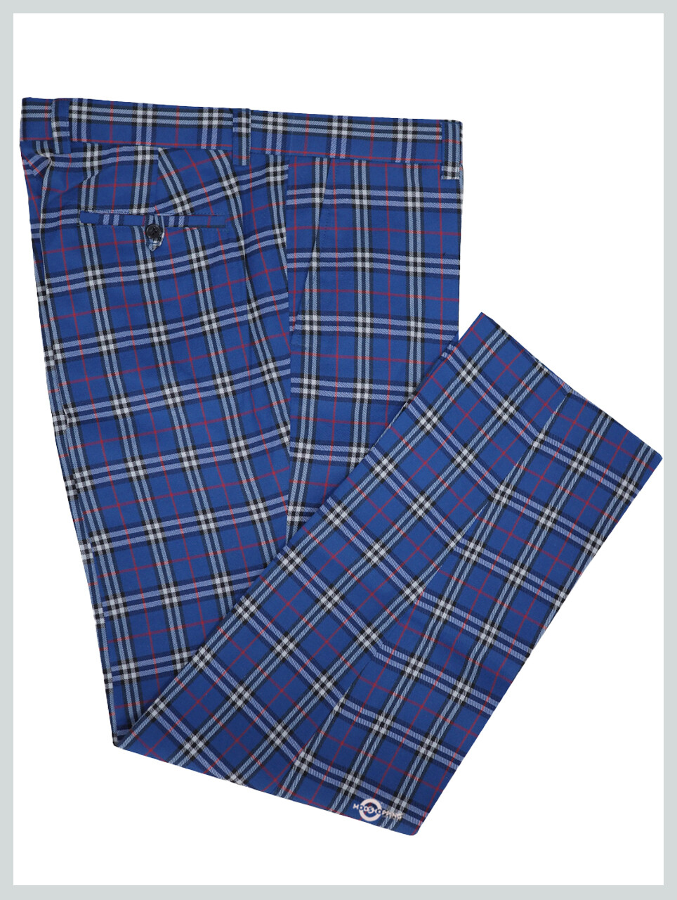 Check Trouser  60s Madras Check Blue Trouser For Mens