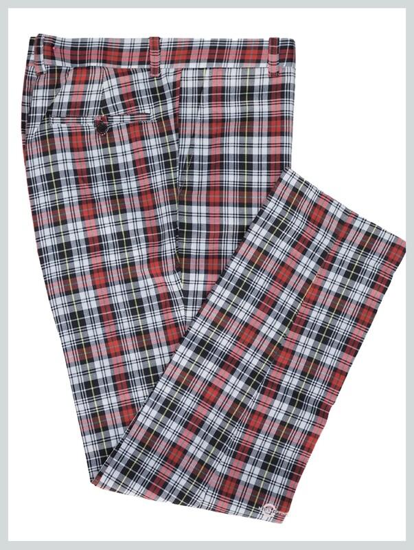 multicolour trouser| tailore made 60s mod style check trouser