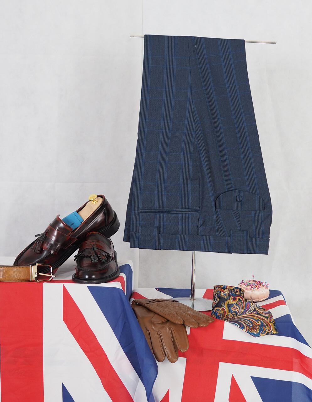 Mens Suit Trouser| Stripe Navy Blue Trouser For Men