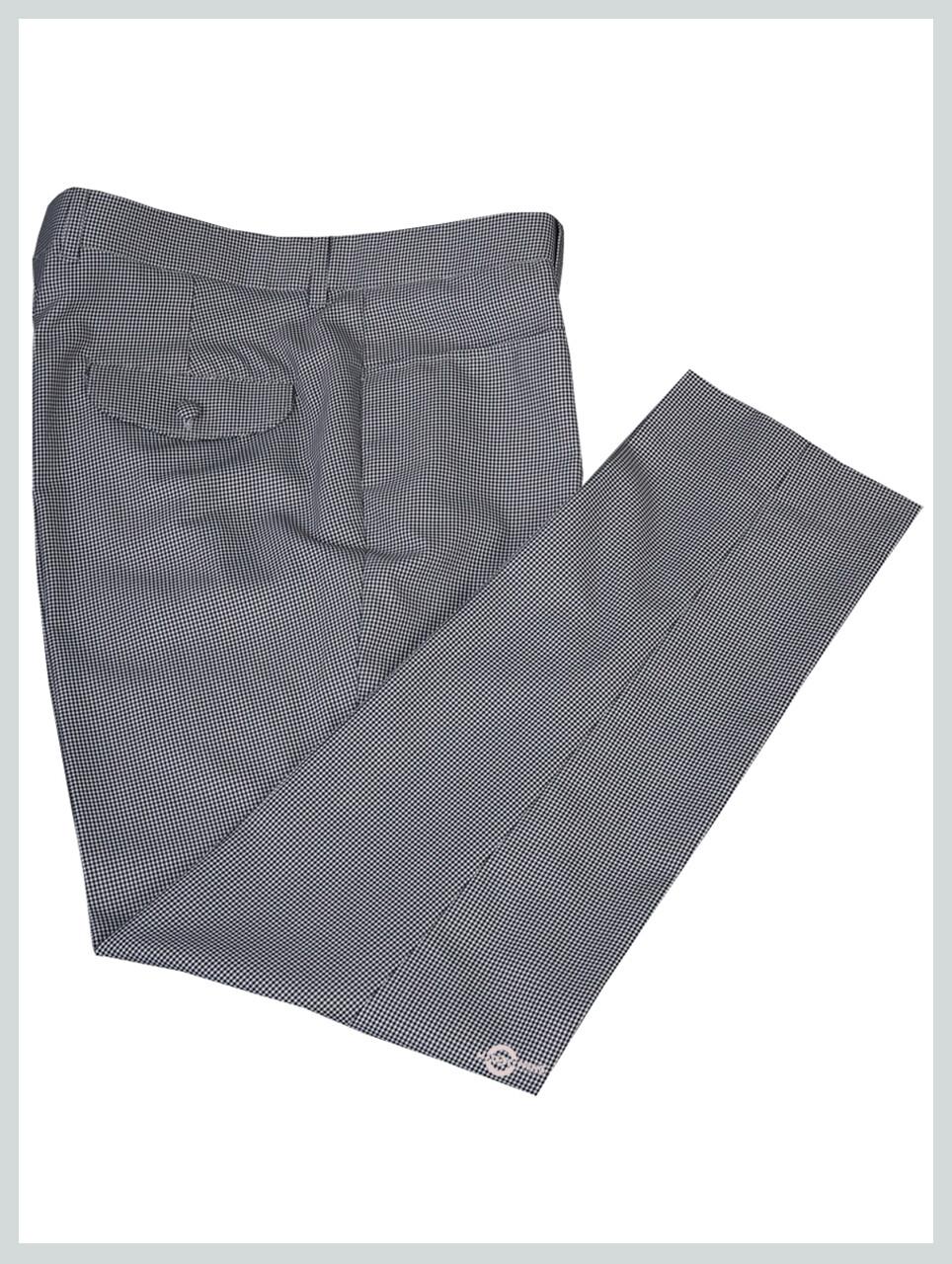 Check Trouser| 60s Retro Black & White Small Houndstooth Trouser Men's