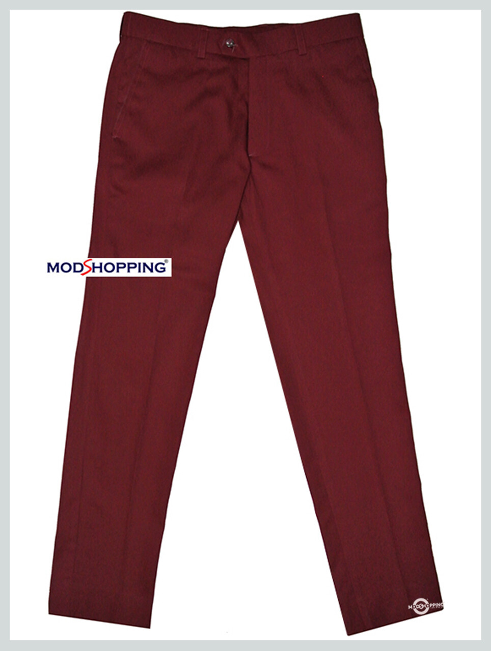 Sta Press Trousers| Retro Vintage Burgundy Sta Press Casual Trouser