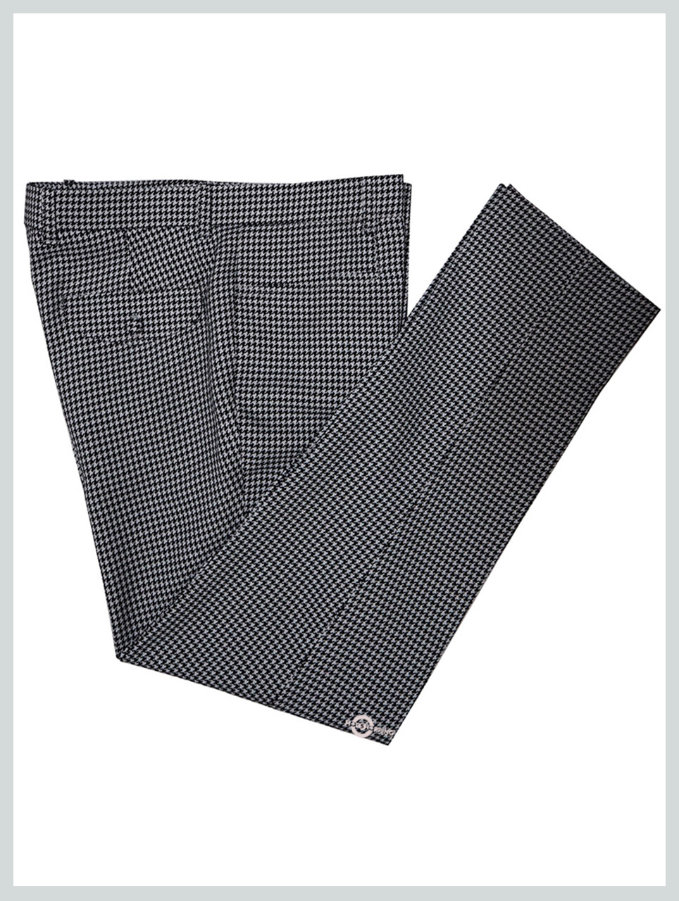 Mens Trouser| Houndstooth Black & White Mens Slim Fit Trousers
