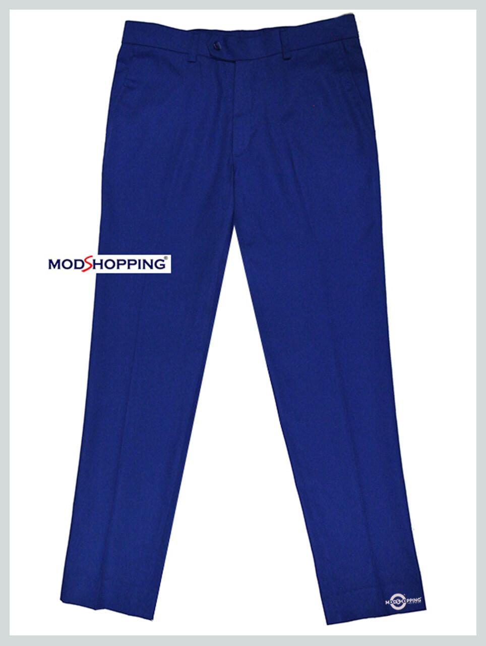 Sta Press Trousers| Retro Mod Bright Blue Men Trouser