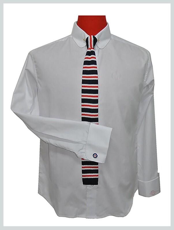 Penny Pin Collar White Shirt For Men Uk