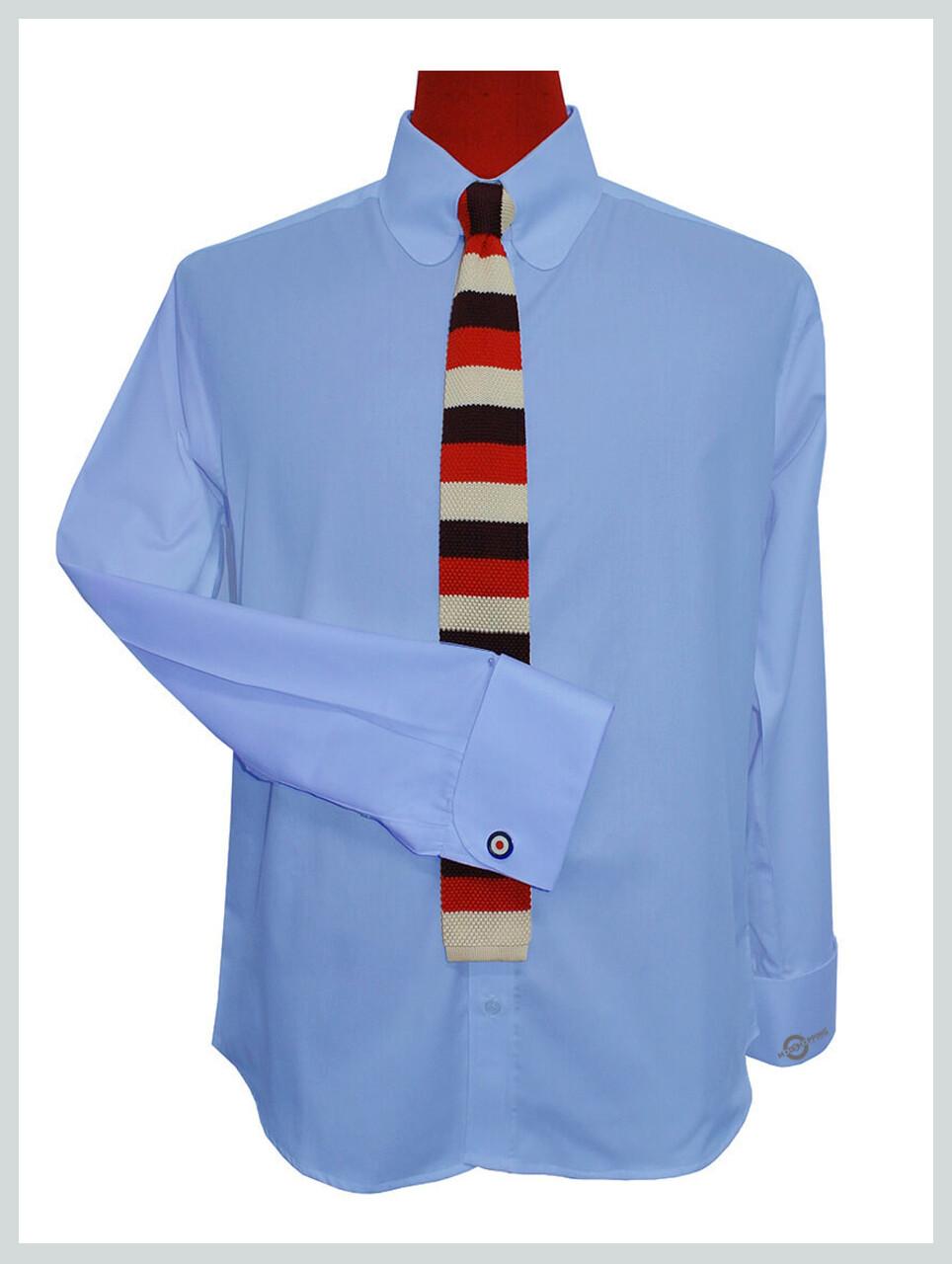 Tab Collar Shirt| Tailor Made Sky Colour Tab Collar Shirt Uk