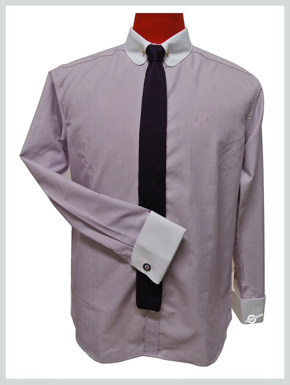 Mens Lilac Shirt| Penny Pin Collar Vintage Shirt For Men