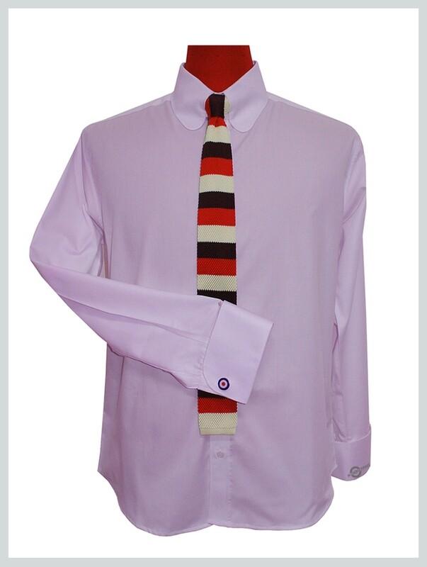 Lilac Shirt  Penny Pin Collar Long Sleeve Vintage Lilac Shirt For Men