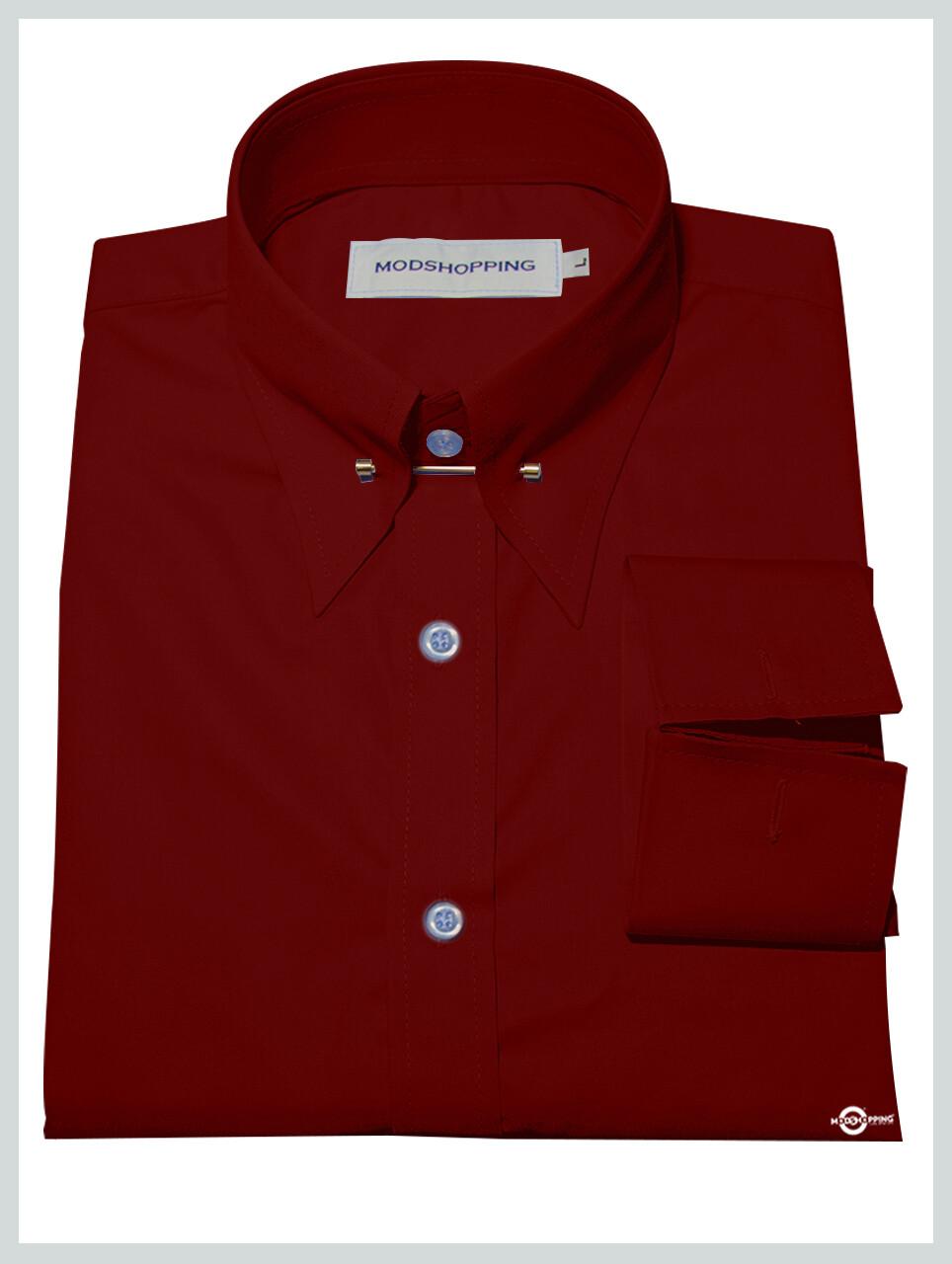 Red Pin High Collar Shirt
