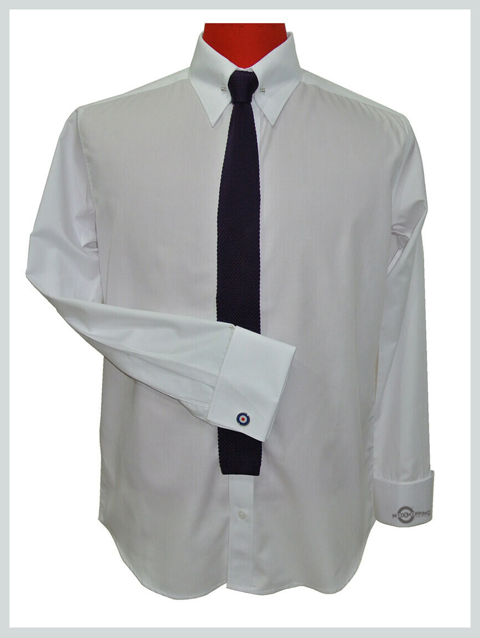High Collar Shirt| High Collar Pin White Shirt For Men