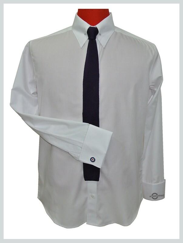 High Collar Shirt  High Collar Pin White Shirt For Men