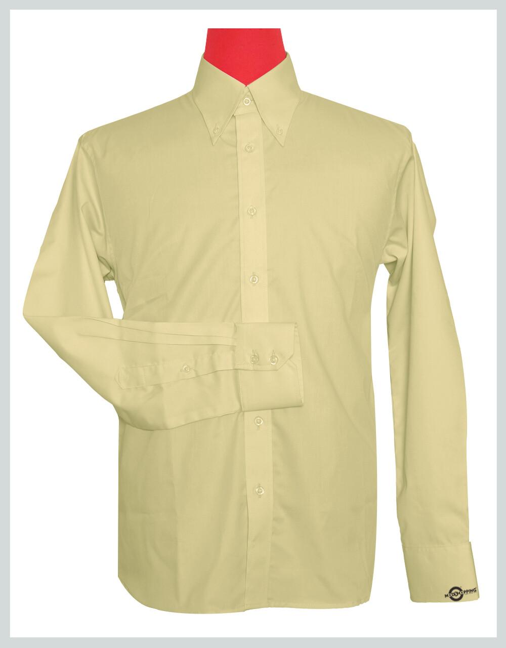 Button Down Collar Shirt   Vanilla Color Shirt For Man