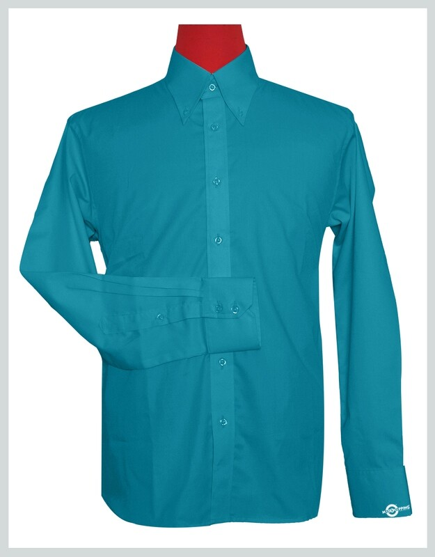 Button-Down Collar Shirt   Deep Sky Blue Color Shirt For Man