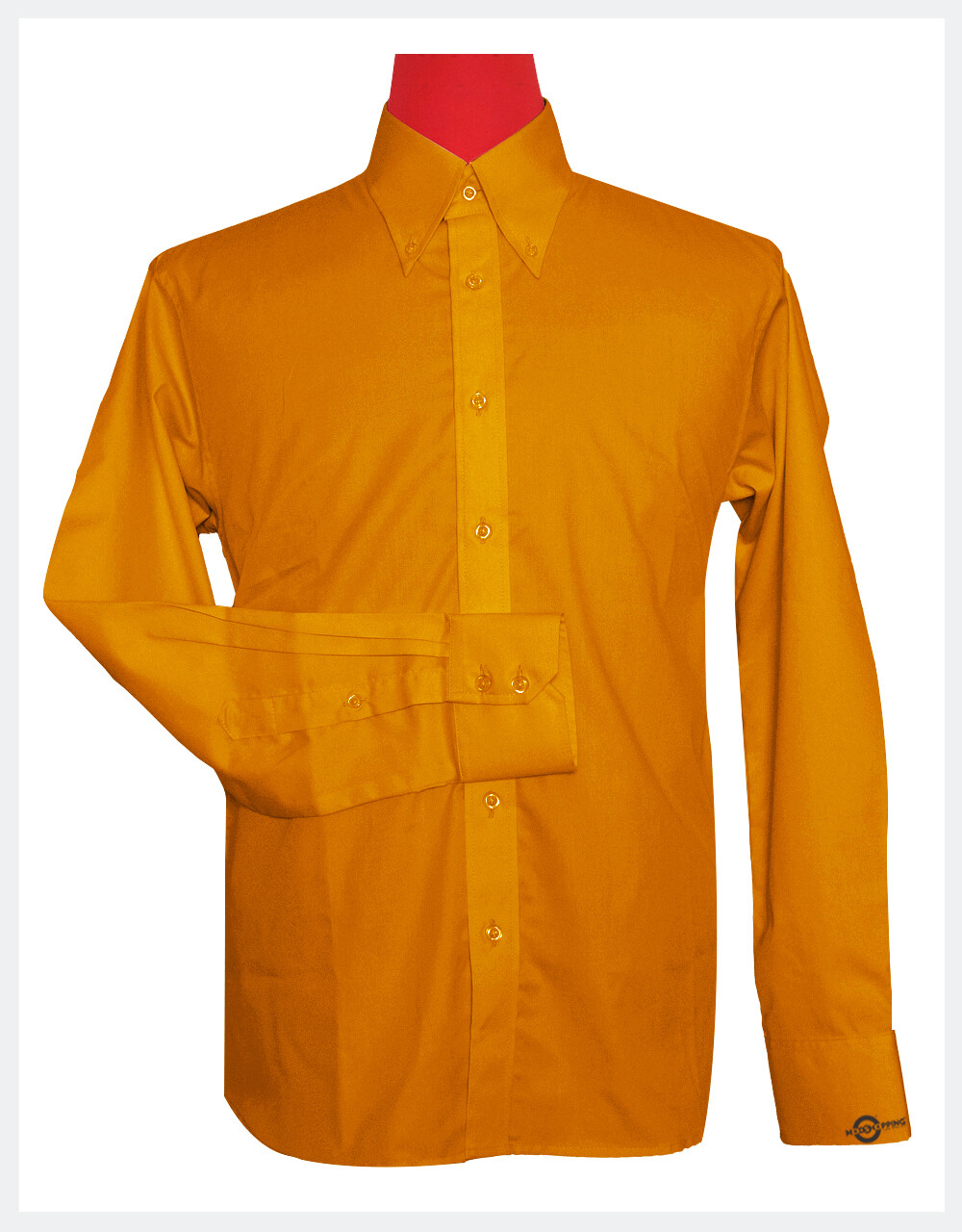 Button-Down Collar Shirt | Carrot Color Shirt For Man