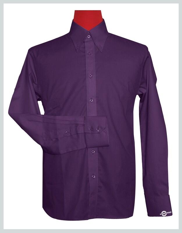 Button-Down Collar Shirt   Purple Color Shirt For Man