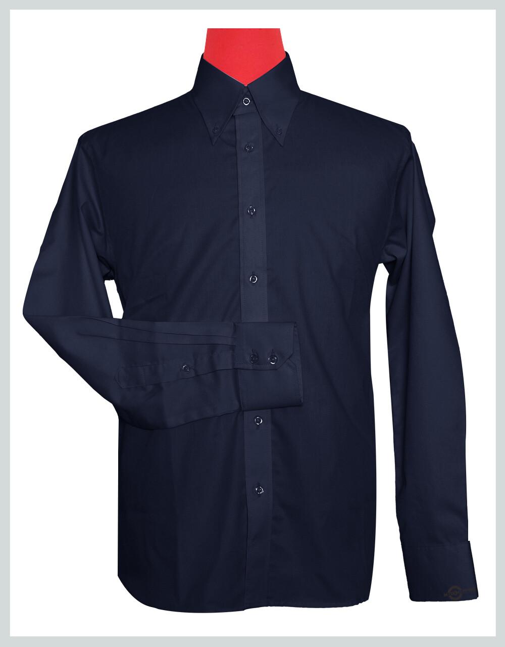 Button-Down Collar Shirt | Navy Blue Color Shirt For Man