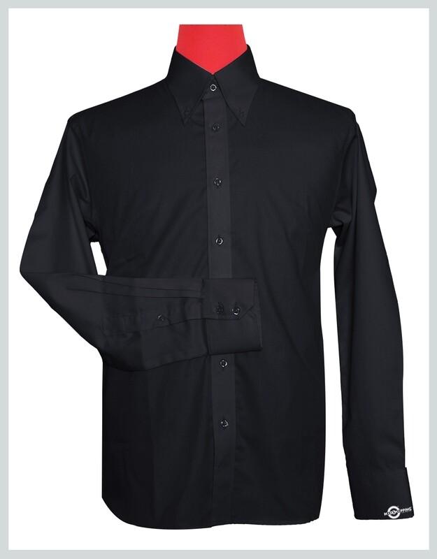 Button-Down Collar Shirt   Black Color Shirt For Man
