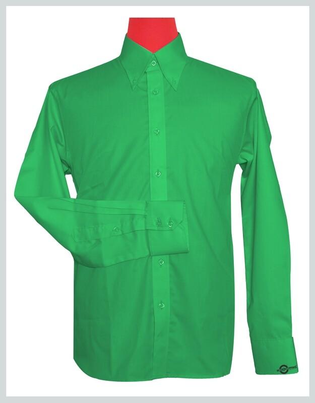 Button-Down Collar Shirt   Green Color Shirt For Man