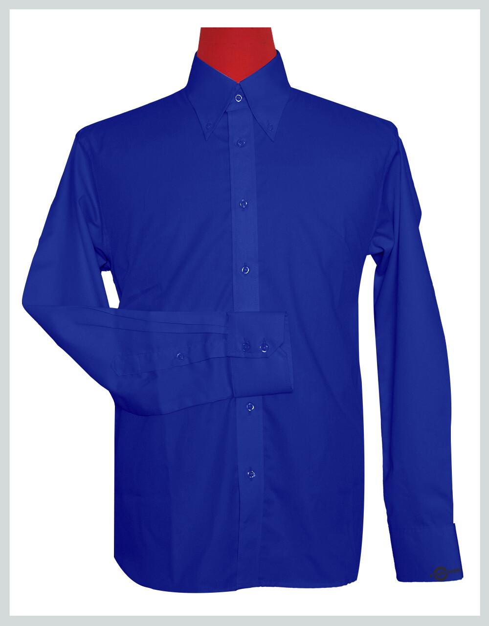 Button-Down Collar Shirt   Blue Color Shirt For Man