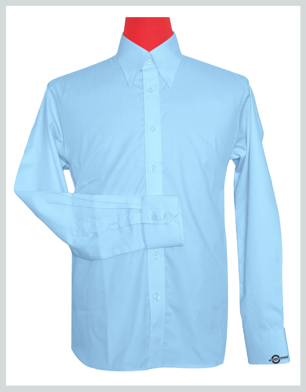 Button-Down Collar Shirt    Light Sky Color Shirt For Man