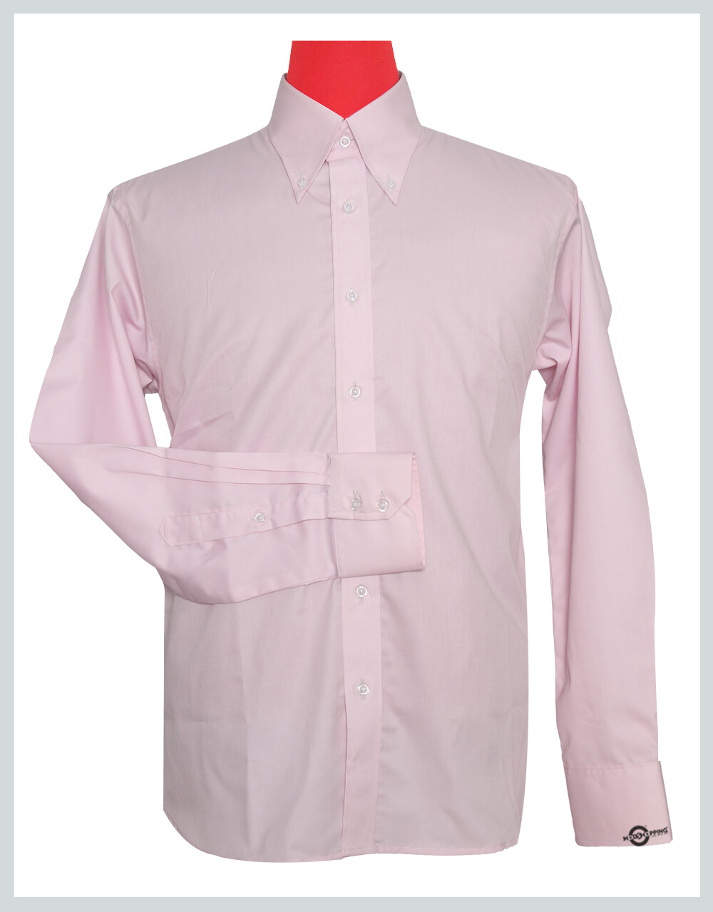 Button-Down Collar Shirt | Light Pink Color Shirt
