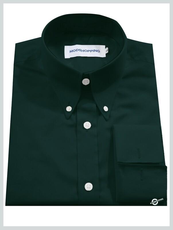 High Collar Dark Green Shirt  Formal Shirts For Men