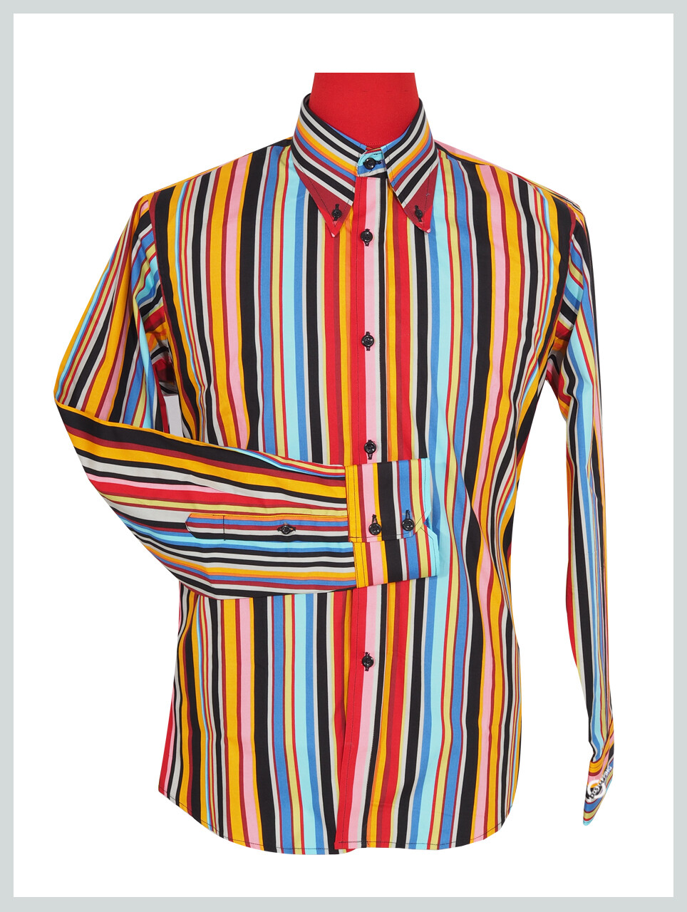 60'S Candy Style Multi Color Shirt