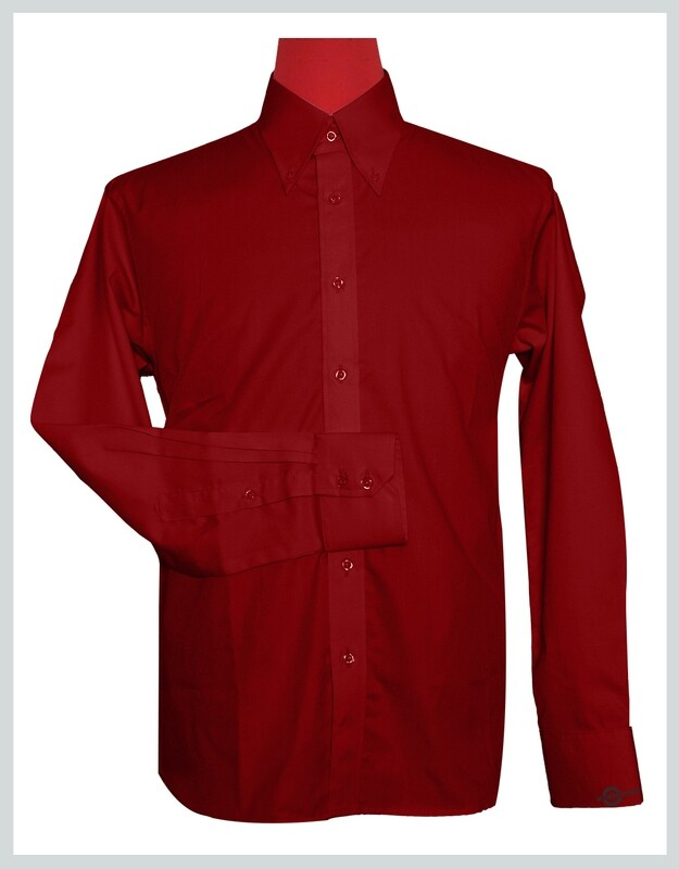 Button-Down Collar Shirt   Red Color Shirt For Man