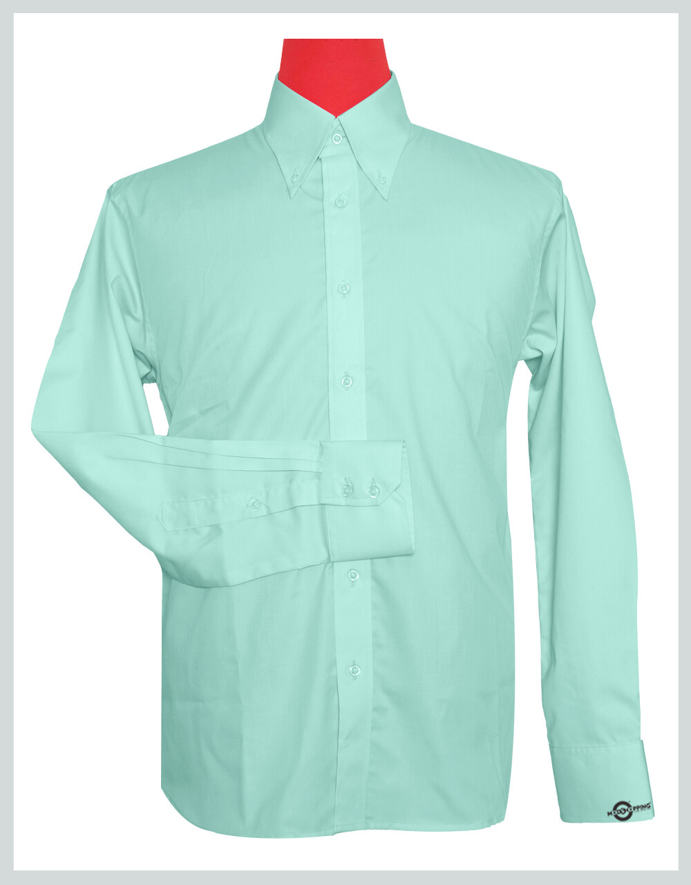 Button-Down Collar Shirt | Sea Green Color Shirt For Man
