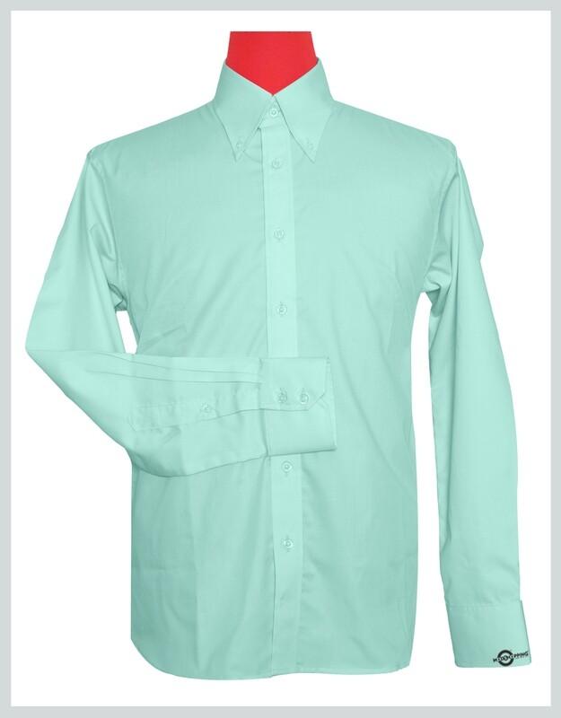 Button-Down Collar Shirt   Sea Green Color Shirt For Man