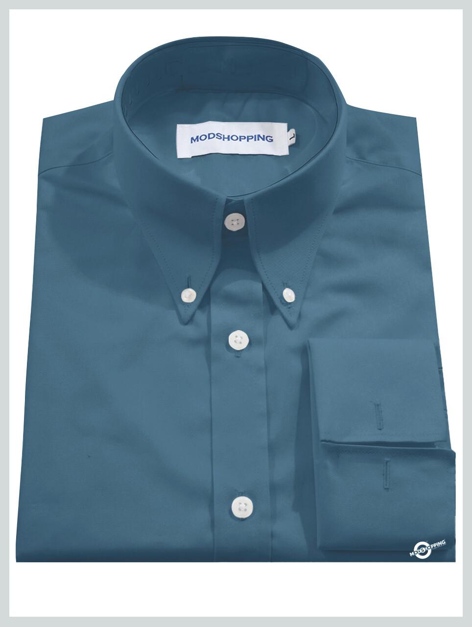 High Collar Cadet Blue Shirt| Formal Shirts For Men